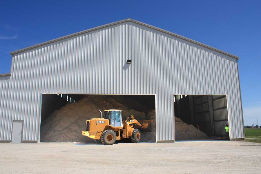 Gypsum storage