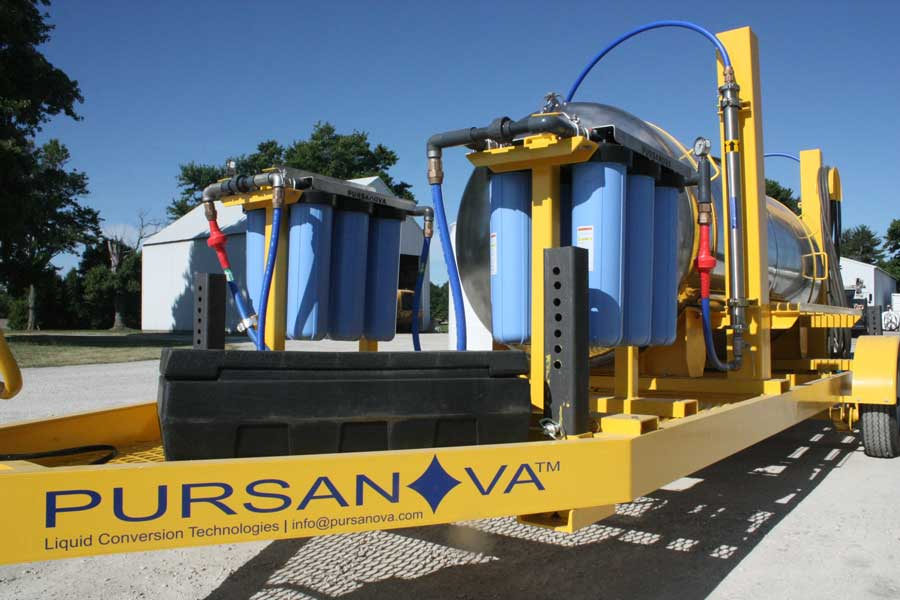 Pursanova water system on trailer